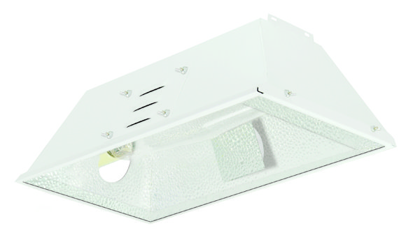 "LUMESUN REFLECTOR, WITH VENT COVERS INSTALLED, 2 - 4"" AIR-COOL FITTINGS, SOCKET,15' CORD AND GLASS INCLUDED"