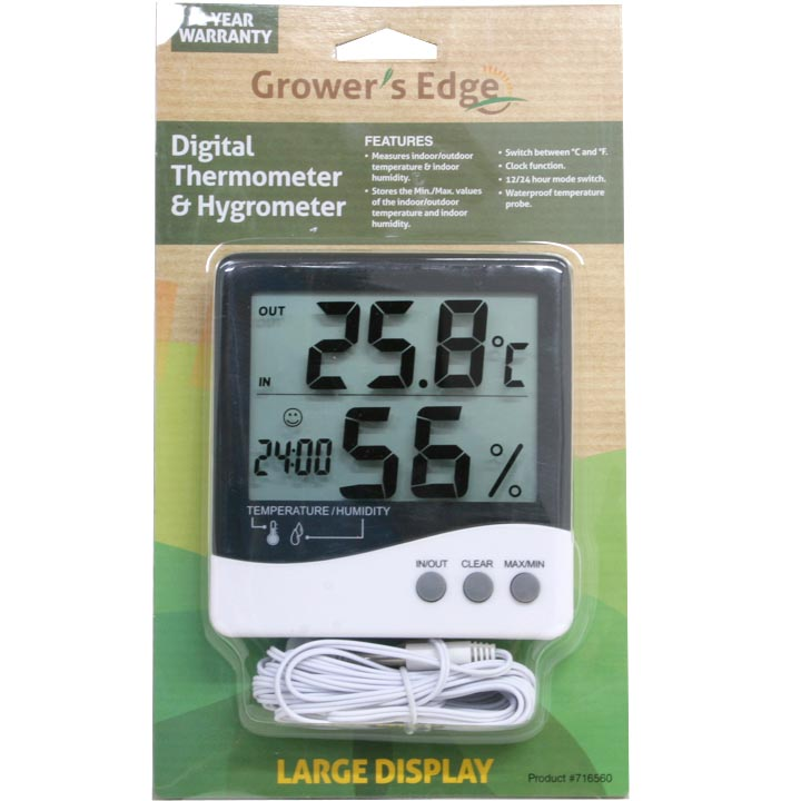 Digital Thermometer/Hygrometer.