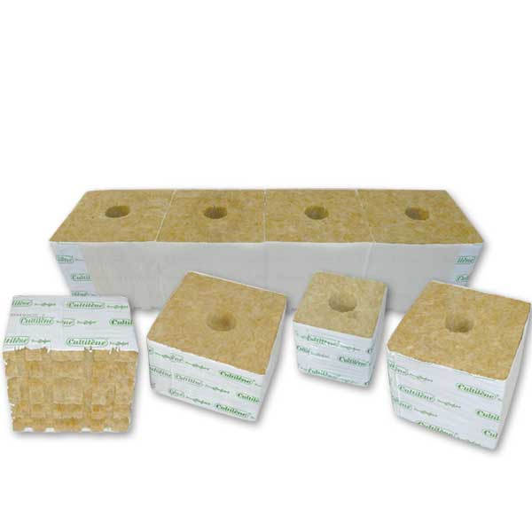 Plant Comfort 6 x 6 x 4 Rockwool Blocks (Strips of 4) Case of 18 Strips = 72 Blocks