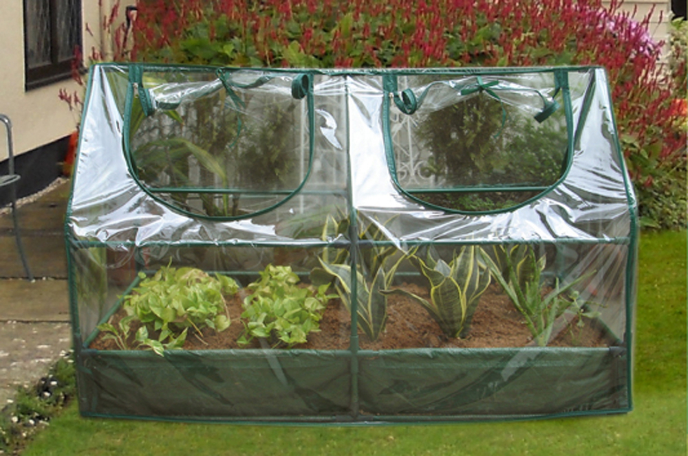 Garden Cold Frame with Raised Bed 120x60x(60+14)cm