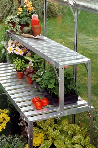 4' Top Tier Aluminum shelf