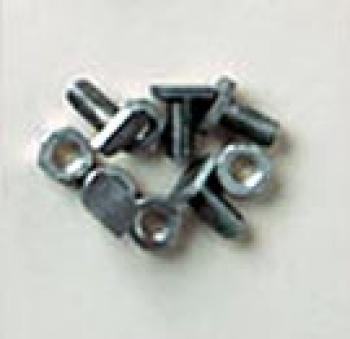 Cropped Head Bolts & Nuts Pack of 10