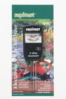 RAPITEST 4 WAY ANALYZER FERTILIZER/LIGHT/MOISTURE/pH MODEL 1880