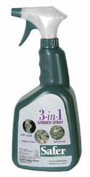 SAFER� BRAND 3-IN-1 GARDEN SPRAY OMRI LISTED - 32OZ RTU (12/CASE)