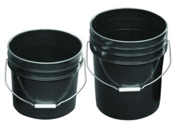 BUCKET, 5 GALLON, BLACK, WITH HANDLE
