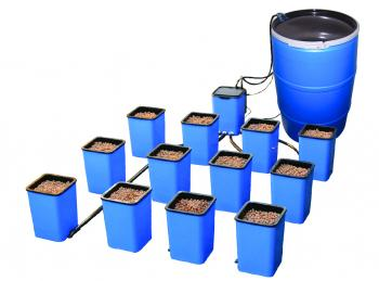 TITAN® CONTROLS FLO-N-GRO™ COMPLETE SYSTEM WITH RESERVOIR (12 - 4 GALLON GROW SITES W/MESH AERATION INSERTS)