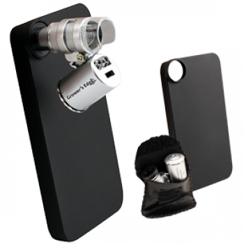 Grower's Edge iPhone Case with LED Pocket Microscope - 60x