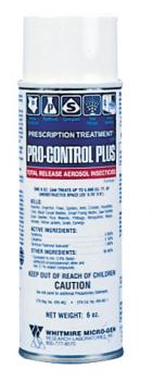 WHITMIRE® PRO-CONTROL PLUS® TR TOTAL RELEASE AEROSOL INSECTACIDE - 6OZ - BOTANICAL/PYRETHROID (12/CASE)