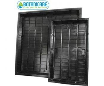 "BOTANICARE� - 3' X 3' BLACK GROW TRAY - HIGH IMPACT ABS PLASTIC - 40.5"" X 40.5"" X 7.5"""