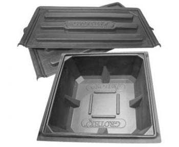 "GROTEK™ RESERVOIR LID - 260LTR (2 PARTS) - 43' X 43"" X 1"""