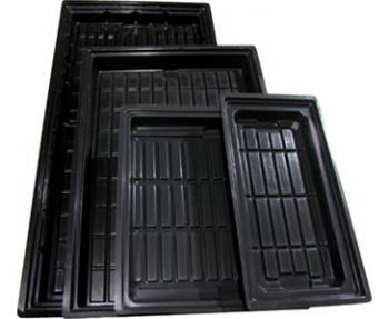"2 X 4 FLOOD TRAY BLACK - ABS (47"" x 24"" x 5"")"
