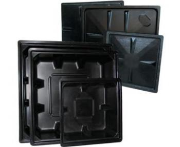 "70 GALLON RESERVOIR BLACK - ABS (44"" x 44"" x 12"")"