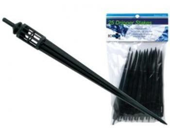 DRIPPER STAKES WITH BASKET - BLUE (100/BAG) - SOLD IN BAG QUANTITIES ONLY