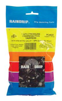 RAIN DRIP 1 GPH DRIPPERS BAG of 25
