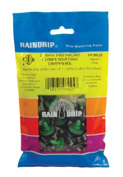RAIN DRIP 2 GPH DRIPPERS BAG of 25