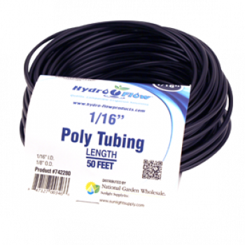Hydro Flow Poly Tubing 3/16in I.D x 1/4in O.D 50ft Roll