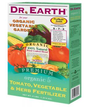 DR. EARTH� TOMATO, VEGETABLE & HERB FERTILIZER 5-7-3 - 4 LB SIZE (12/CASE)