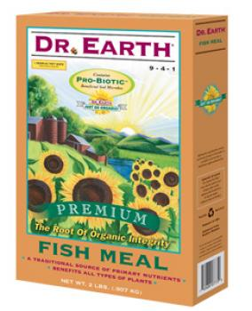 DR. EARTH� FISH MEAL 9-4-1 - 4 LB SIZE (12/CASE)