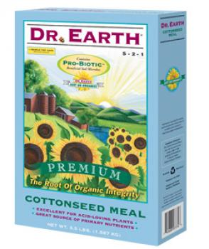 DR. EARTH� COTTONSEED MEAL 5-2-1 - 3.5 LB SIZE (12/CASE)