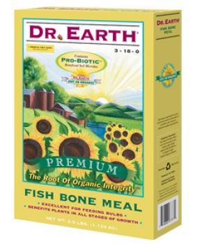 DR. EARTH� FISH BONE MEAL 3-18-0 - 25 LB SIZE (1/CASE)