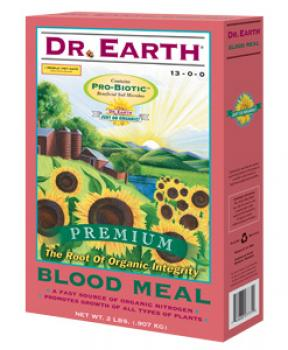 DR. EARTH� BLOOD MEAL 13-0-0 - 25 LB SIZE (1/CASE)