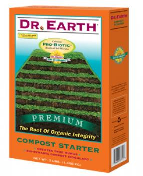 DR. EARTH� COMPOST STARTER - 3 LB SIZE (12/CASE)