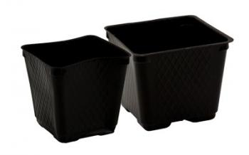 Traditional Square Pots - Blow Molded 3.5""