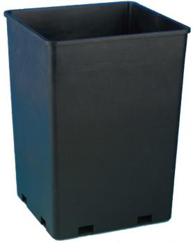 "ROSE BUCKET SQUARE - 7.6"" X 7.6"" X 9.7"" - CAPACITY = 1.7 GALLONS (100/CASE)"
