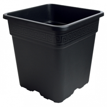 Black Square Pot 5 Gallon