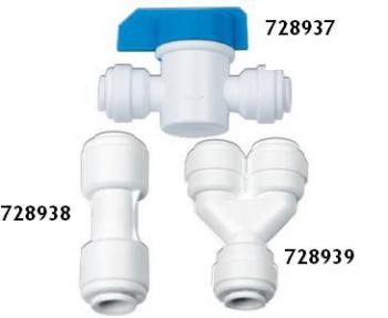 "HYDRO-LOGIC™ QC 1/4"" INLINE SHUT OFF VALVE FOR RO & SMALL BOY"