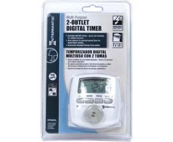 INTERMATIC� DT620 2 OUTLET DIGITAL TIMER