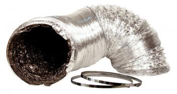 14IN X 25FT SILVER/BLK DUCTING W/O CLAMP
