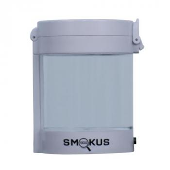 Smokus Focus Middleman Display Container w/ LED and Dual Magnification - White (10/Cs)