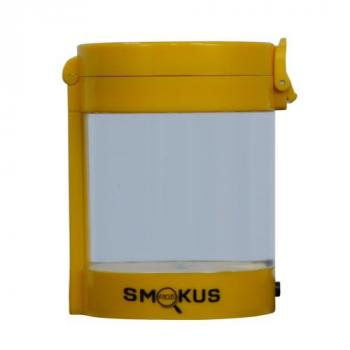 Smokus Focus Middleman Display Container w/ LED and Dual Magnification - Yellow (10/Cs)
