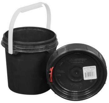 Harvest Keeper Odor Lock 0.6 Gal Black Bucket w/ Lid