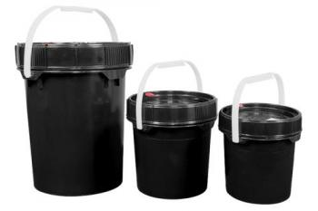 Harvest Keeper Odor Lock 2.5 Gal Black Bucket w/ Lid