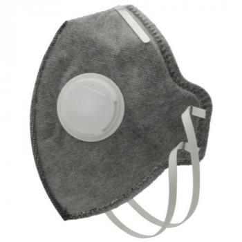 Grower's Edge Clean Room Vertical Fold-Flat Active Carbon Respirator Mask w/ Valve (Pack of 10)