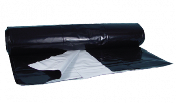 Black/White Poly Sheeting - 5 mil 24ft x 100ft