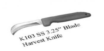 "STRAIGHT 3"" BLADE HARVEST/LANDSCAPE KNIFE - K103 NEW   PACKED -"