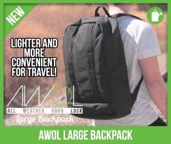 "AWOL™ (L) Backpack -All Weather Odor Lock- ""smell proof"""