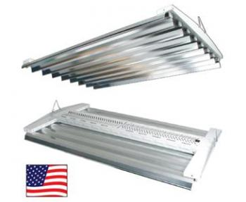 "4 FT 8 LAMP 120 V SOLAR FLARE VHO 57600 Lumens 2 Switches 47"" x 29"" x 4.5"""