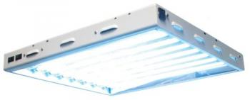 "SUN SYSTEM®  SUN BLAZE™ T5 - 28 FLUORESCENT LIGHTING FIXTURE 2' - 8 LAMP  23.75"" x 22.5"" x 2.675"" Max Chained 3"