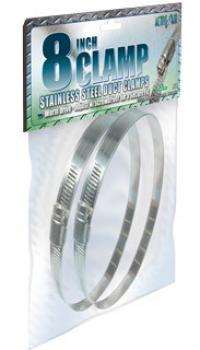 Stainless Steel Duct Clamps, 8""