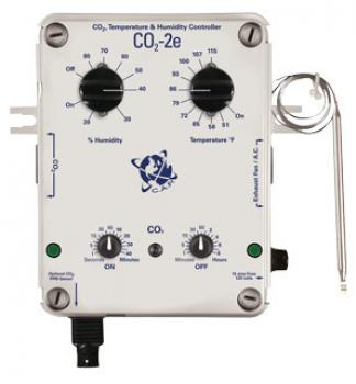 CO2 Controller w/PPM option, temp & humidity, 2-timer, 10-Amp@120vac