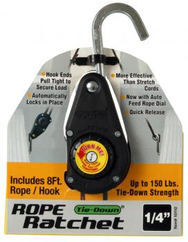 Heavy Duty Rope Ratchet with 8' Rope