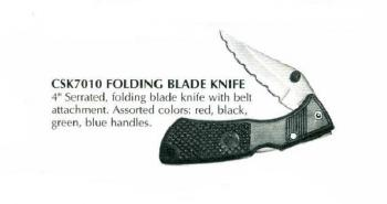 "4"" Serrated Folding Knife"
