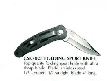 "Deluxe 4""  Blade Folding Crusader Knife"