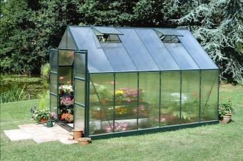 Magnum 128 12x8 Green powder coat Greenhouse