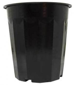 Plastic Planter 16qt Black, pack of 50