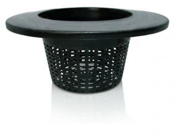 "6"" Wide Lip Bucket Basket, mesh pot bucket lid, case of 25"